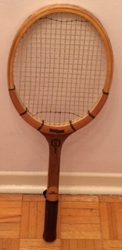 Light weight tennis racquet with press