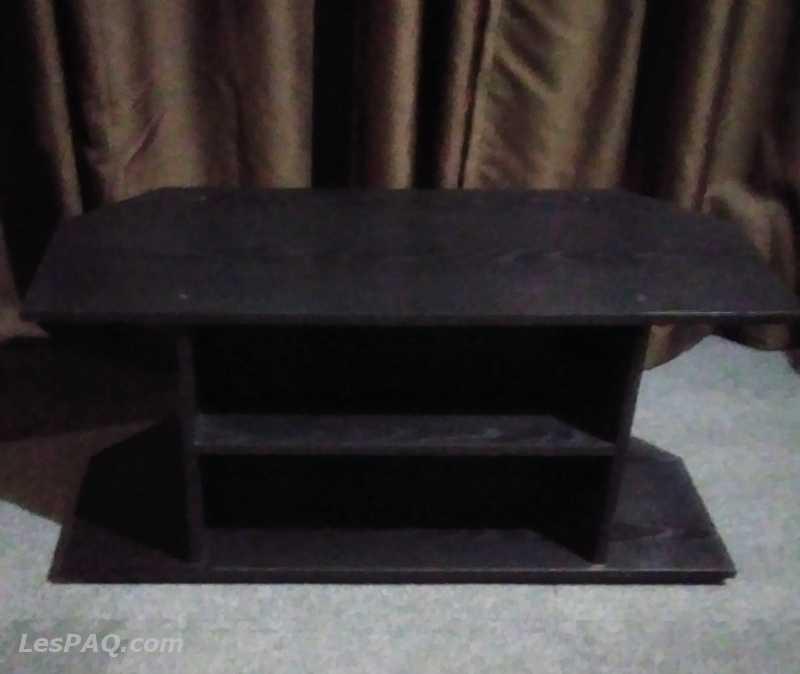 Meuble TV en bois massif noir